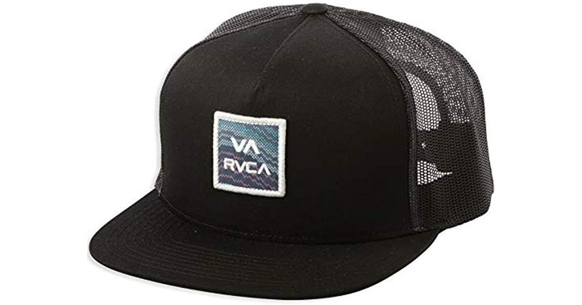 Lyst - Rvca Va All The Way Mesh Back Trucker Hat in Black for Men 92e0d2166e93