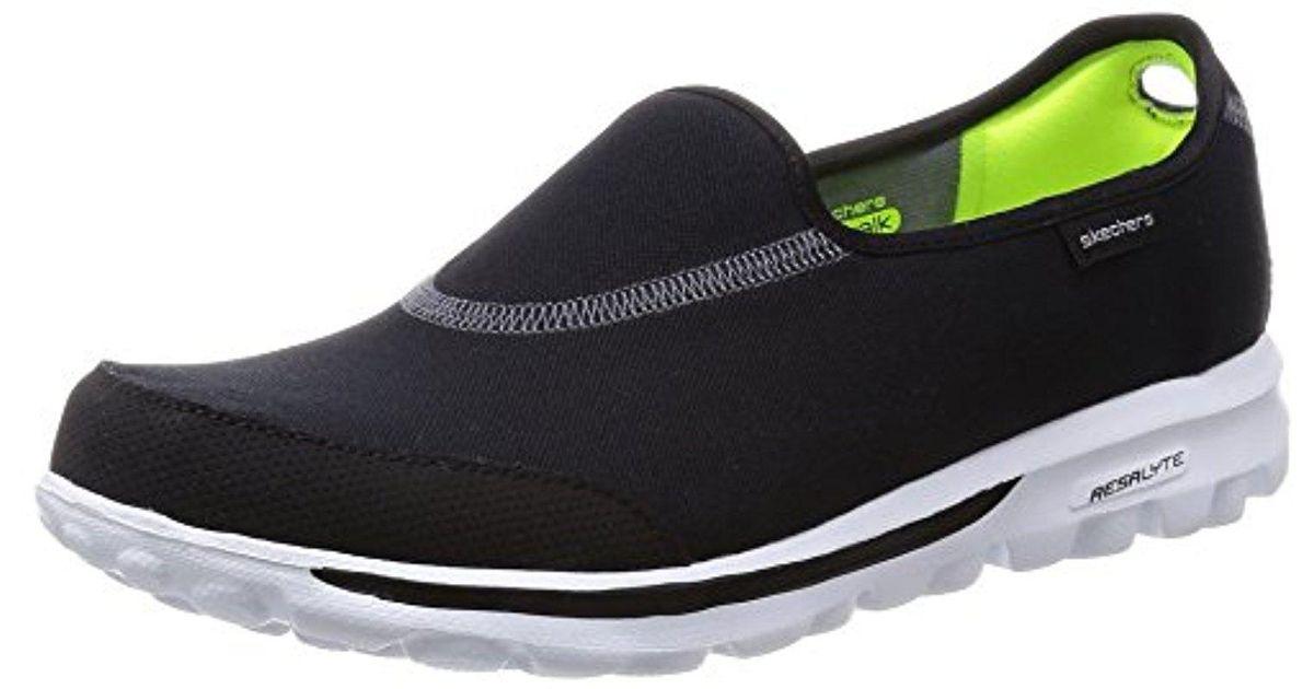618bafe7b6055 Lyst - Skechers Performance Go Walk Impress Memory Foam Slip-on Walking Shoe  in Black