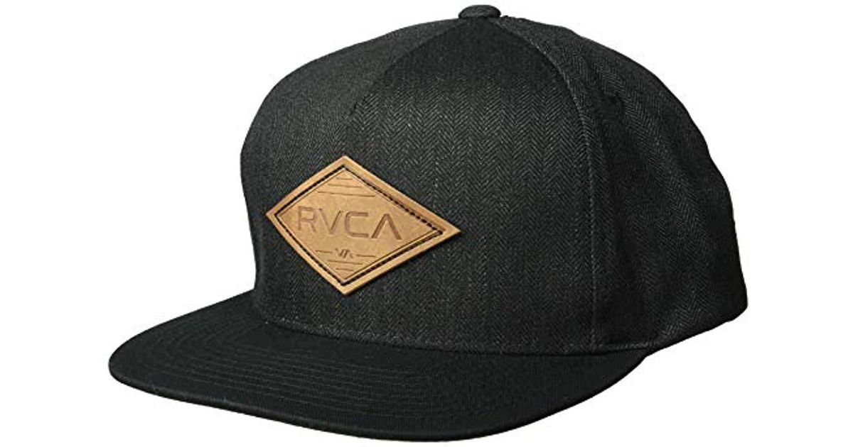 Lyst - RVCA Woods Snapback Hat in Black for Men b362e8951d6b