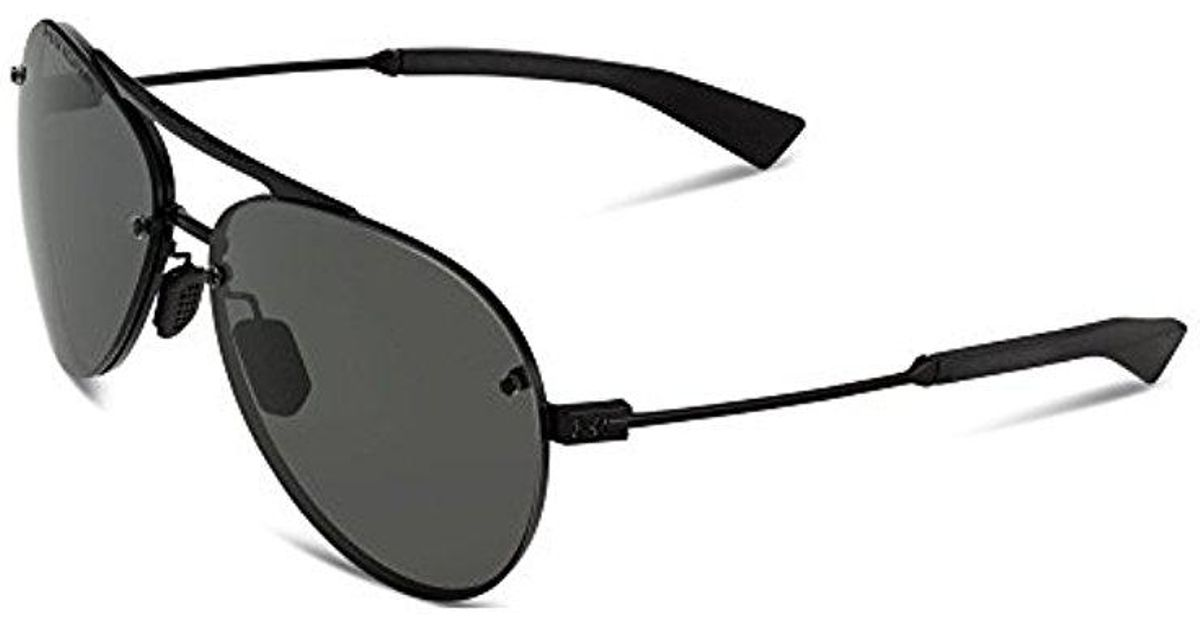 9d56ef65bfd Lyst - Under Armour Ua Double Down Storm Polarized Sunglasses in Black
