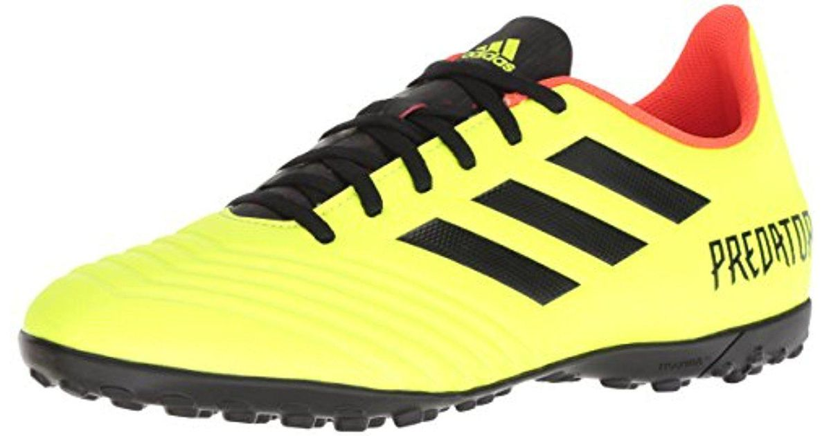 brand new c585e cc4ab ... coupon code lyst adidas predator tango 18.4 turf soccer shoe in yellow  for men 94c2a b4065