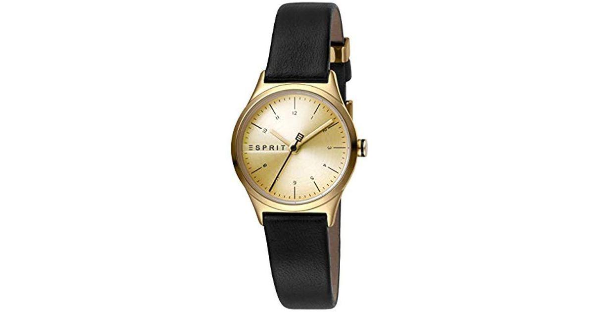 19c456ae599c Reloj Analógico para Mujer de Cuarzo con Correa en Cuero ES1L052L0025  Esprit de color Metálico - Lyst