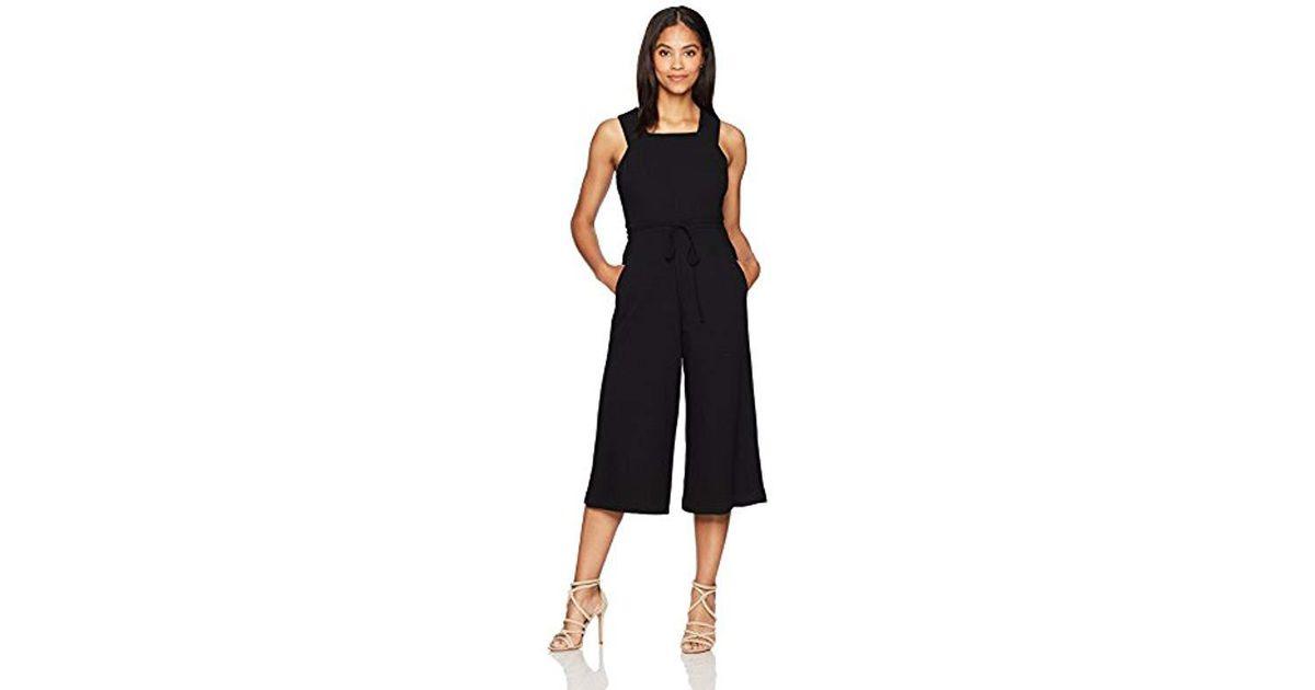 4d551b111bee Lyst - Maggy London Wide-leg Crop Jumpsuit in Black