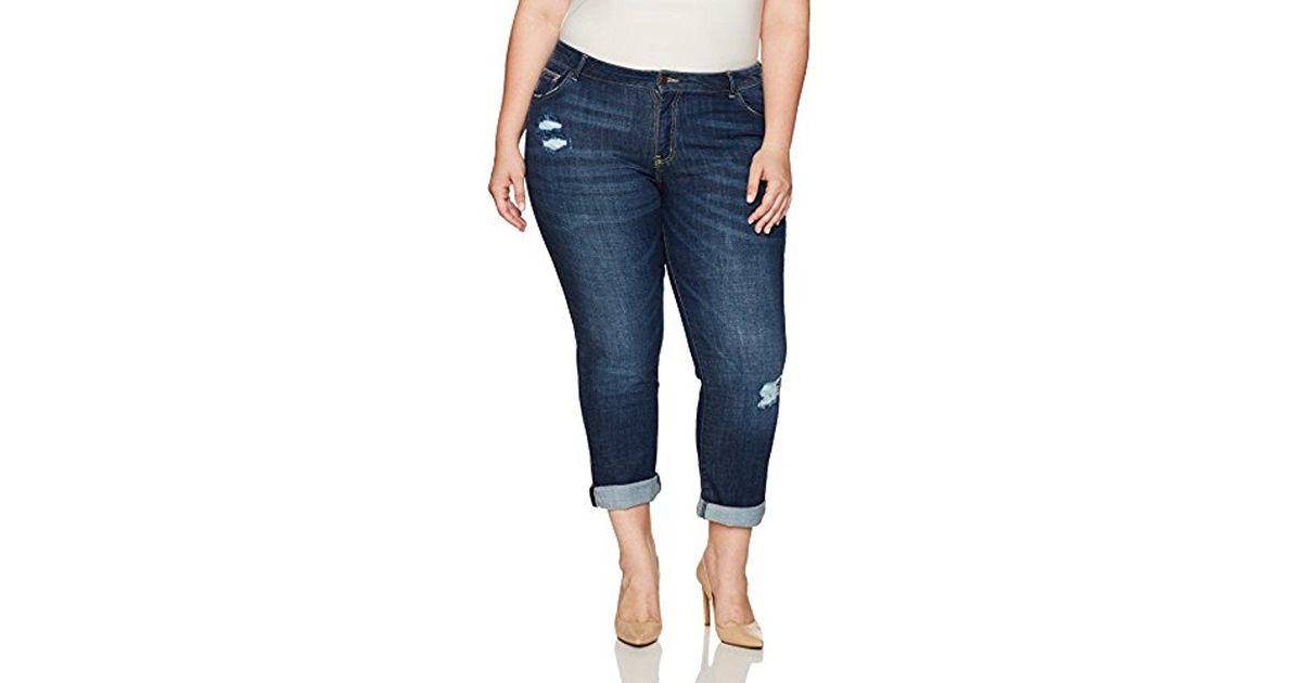 599c7b9d810 Lyst - Lee Jeans Plus-size Modern Series Curvy-fit Ruby Boyfriend Jean in  Blue