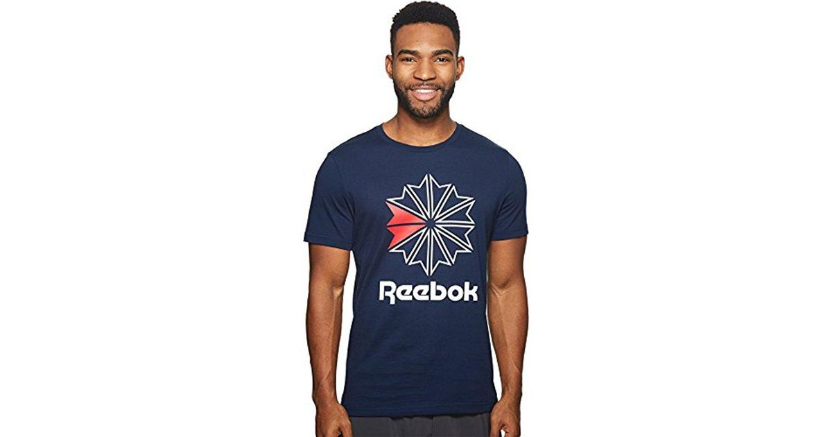 bca3d8035 Reebok Classic Foundation Graphic Tee in Blue for Men - Save 10% - Lyst