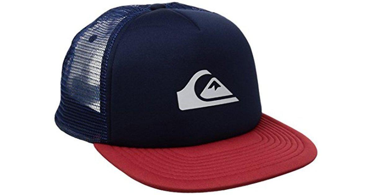 1d7d8685bf704 Lyst - Quiksilver Snap Addict Trucker Hat in Blue for Men