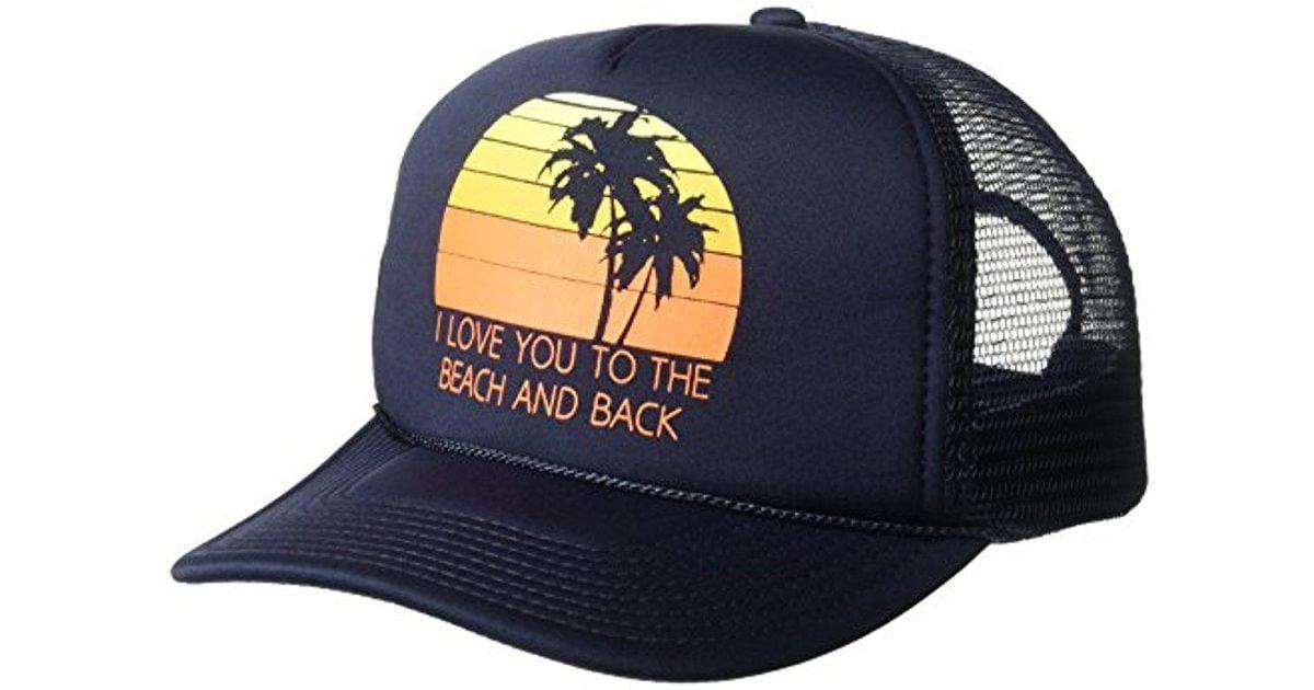dbffc318 O'neill Sportswear Solstice Screen Print Foam Trucker Hat in Blue for Men -  Lyst