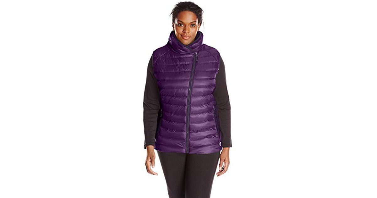 fa00c185861 Lyst - Champion Plus-size Performance Poly Vest With Synthetic Down in  Purple