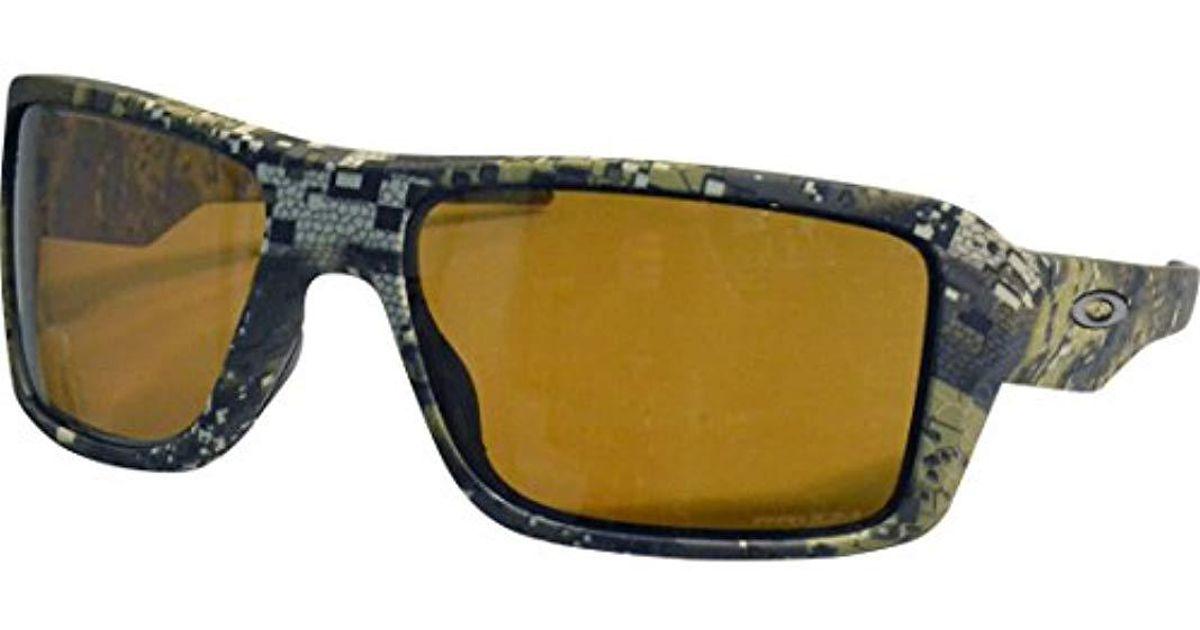 ba17cb9d56a Lyst - Oakley Double Edge Polarized Iridium Rectangular Sunglasses ...
