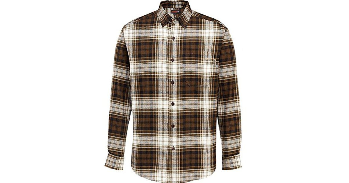 f8cd88e13b Lyst - Wolverine Rogan Long Sleeve Flannel Shirt in Brown for Men