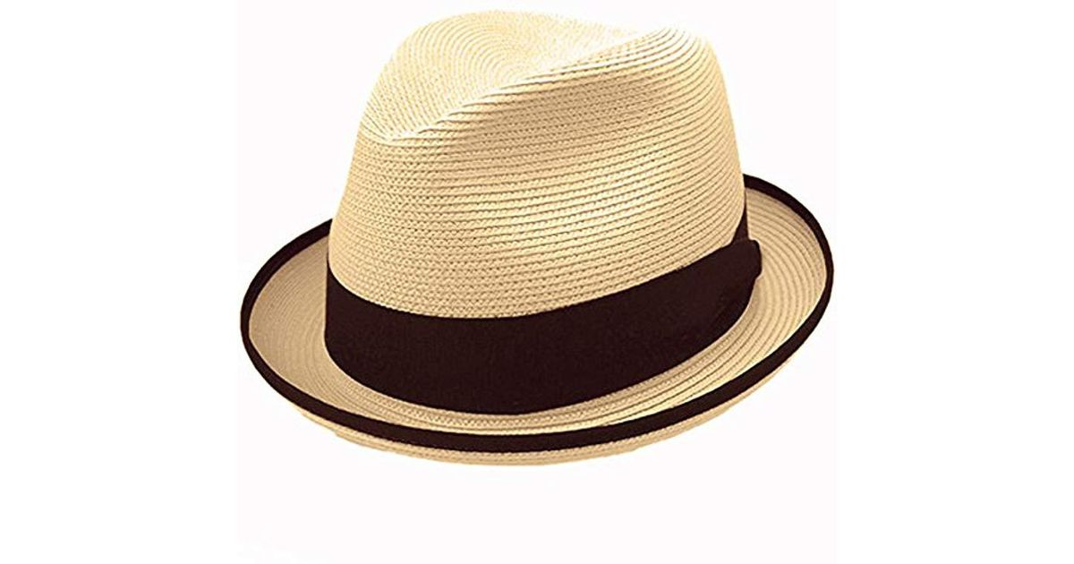 dddab27b69ea0a Lyst - Stetson Latte Florentine Milan Straw Hat in Natural for Men
