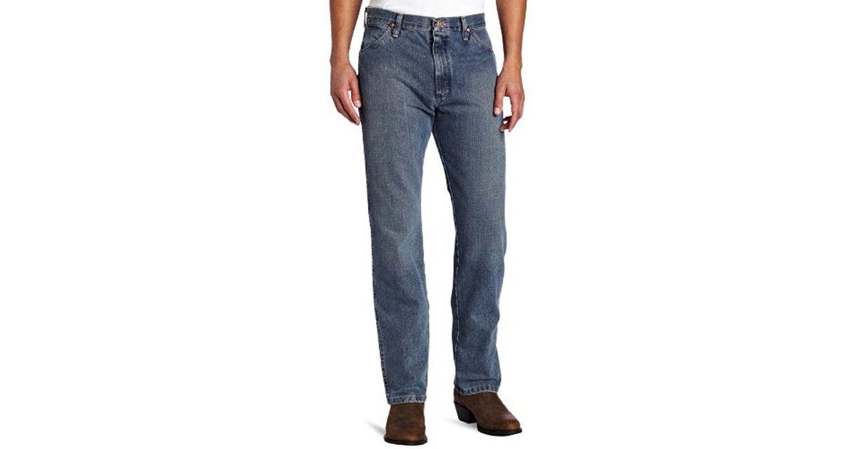 5d426297 Wrangler 13mwz Jeans Cowboy Cut Original Fit Prewashed Rough Stone 38w X  32l in Blue for Men - Lyst