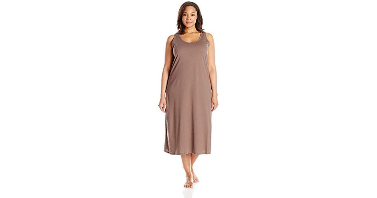 d6da6cff98 Lyst - Jockey Plus-size Plus-size Cotton Gown in Brown - Save 39%