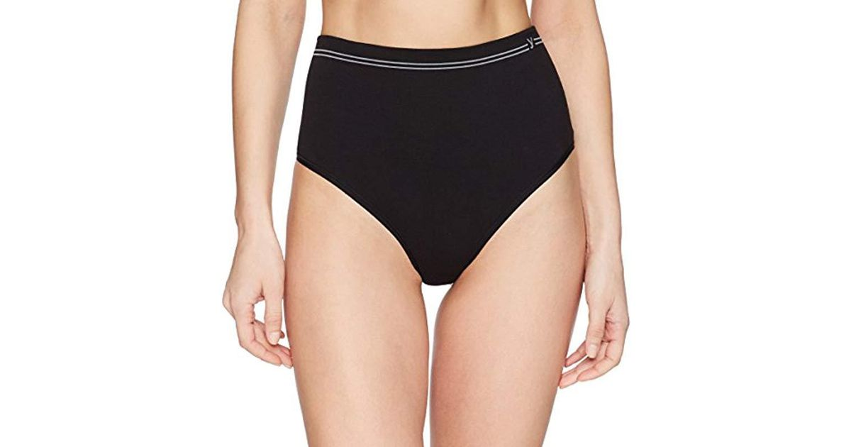 3573ebef6d Lyst - Yummie Cotton Seamless Shapewear Thong in Black