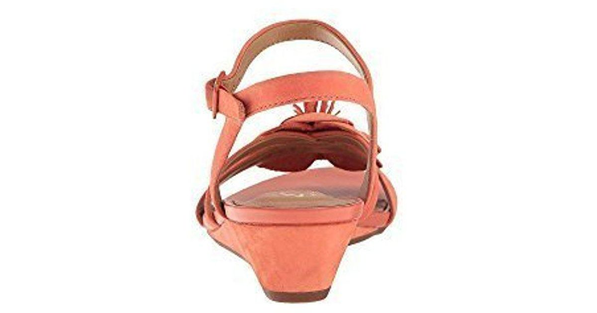 ca84e702df6 Lyst - Clarks S Parram Stella Leather Open Toe Casual Ankle Strap Sandals