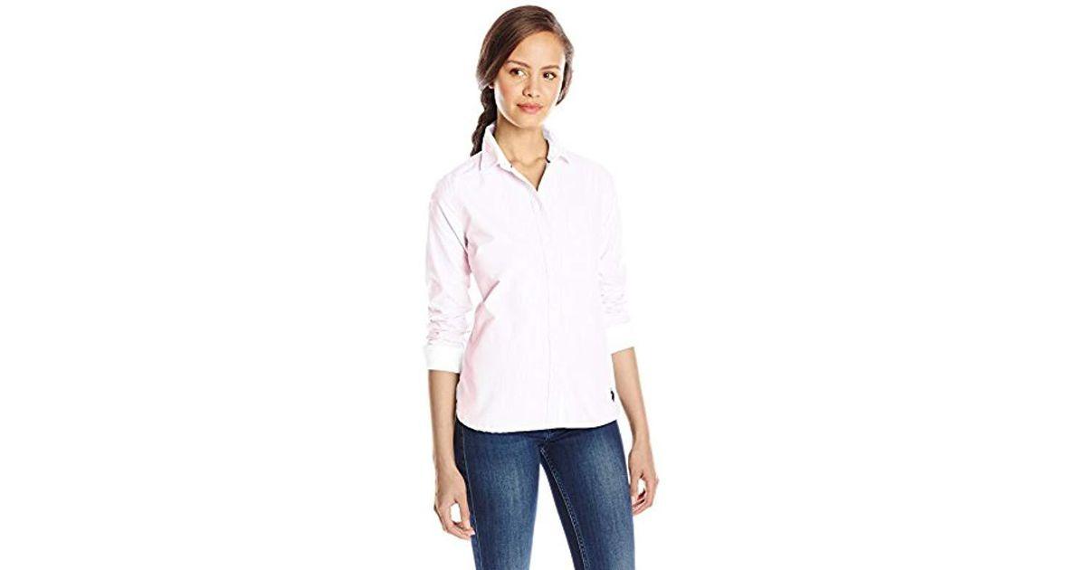 Woven Polo Shirt U Long s Solid Sleeve Oxford Juniors' Assn Lyst 7TEfxwzq7
