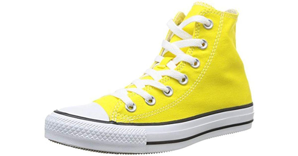 94fa802b0832bd Converse Unisex Adults  Chuck Taylor All Star Hi Gymnastics Shoes in Yellow  - Lyst