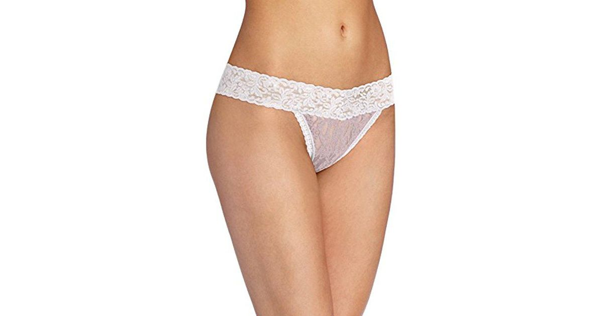 7636c43cd Lyst - Maidenform All Lace Thong Panty