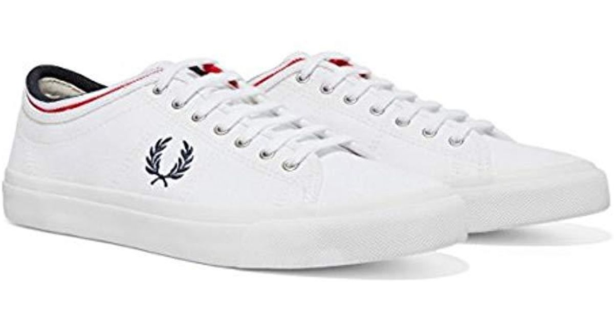 45f5919837 Lyst - Fred Perry Kendrick Tipped Cuff Leather Sneaker in White for Men