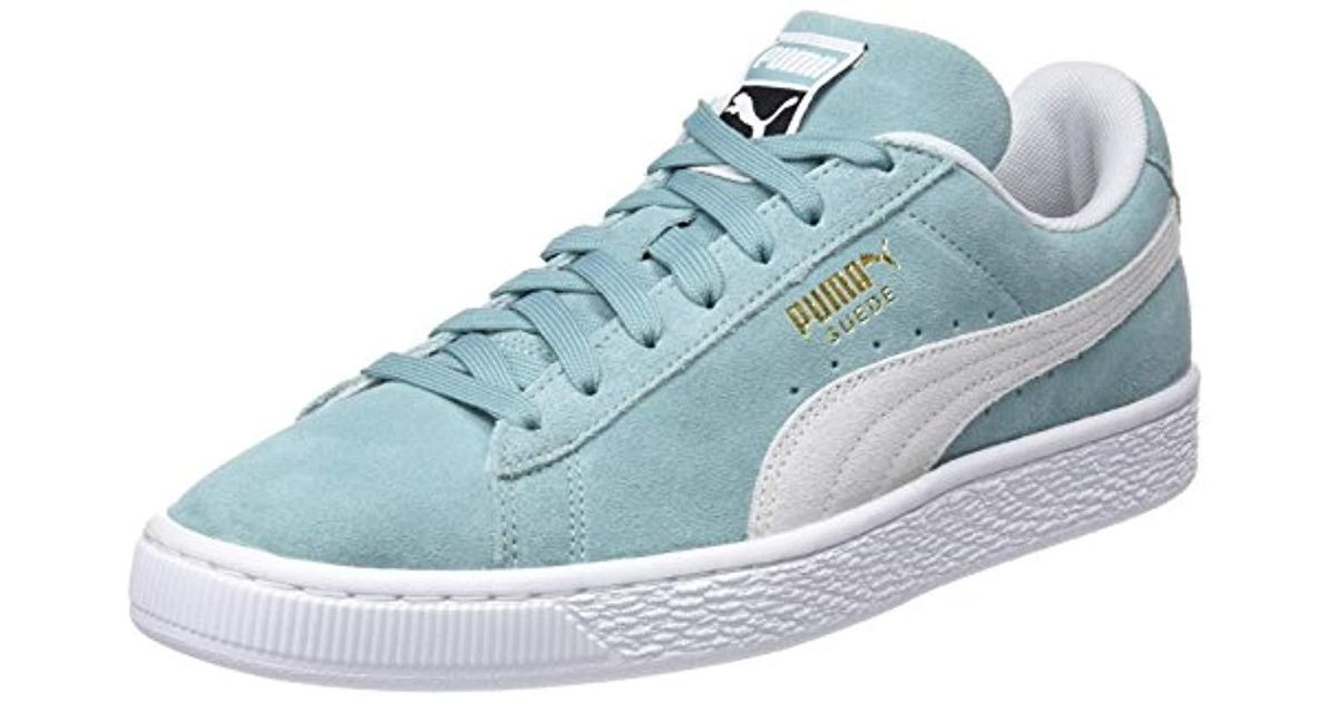 PUMA Adults  Suede Classic Trainers White in Blue for Men - Save 5% - Lyst 4f51a07ae