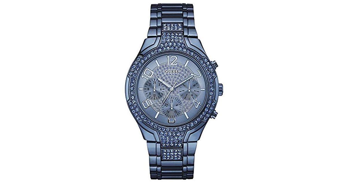 9bf0b81e73b6 Lyst - Reloj analogico para Mujer de Cuarzo con Correa en Acero Inoxidable  W0628L6 Guess de hombre de color Azul