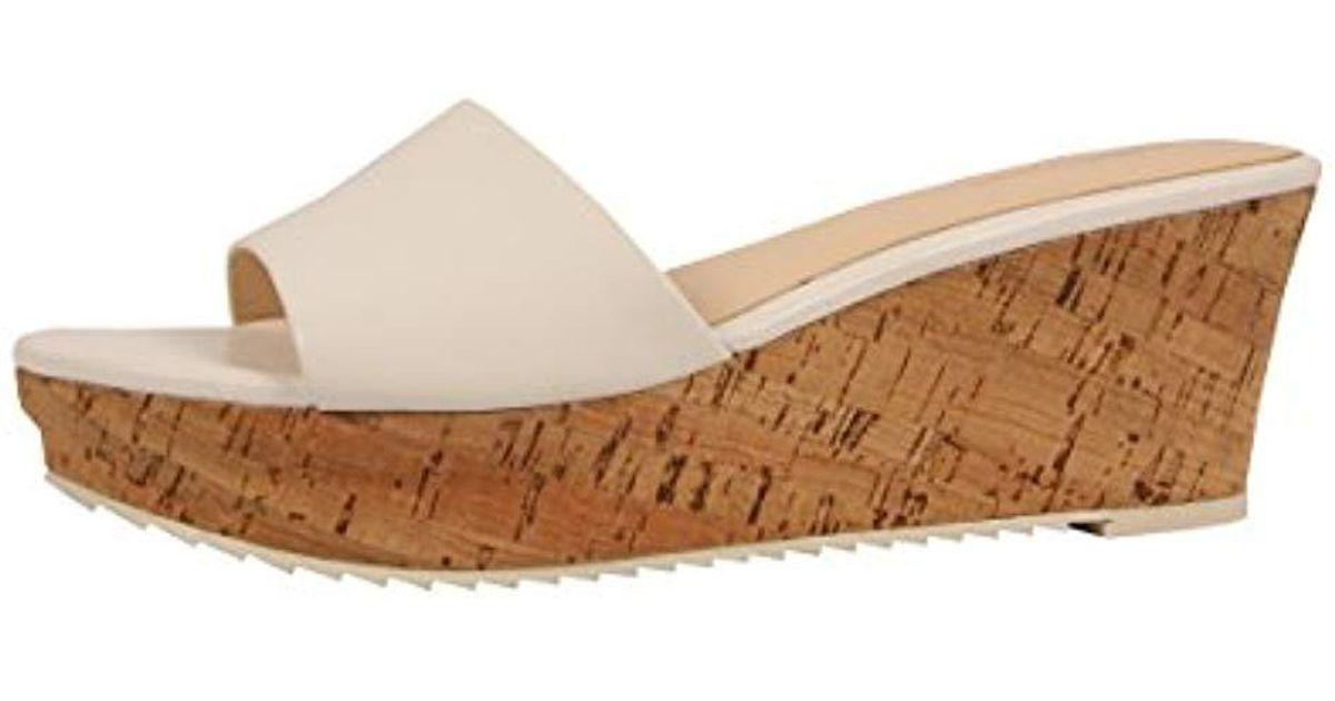 fd8f1f47d0c Lyst - Nine West Confetty Leather Platform Sandal in White