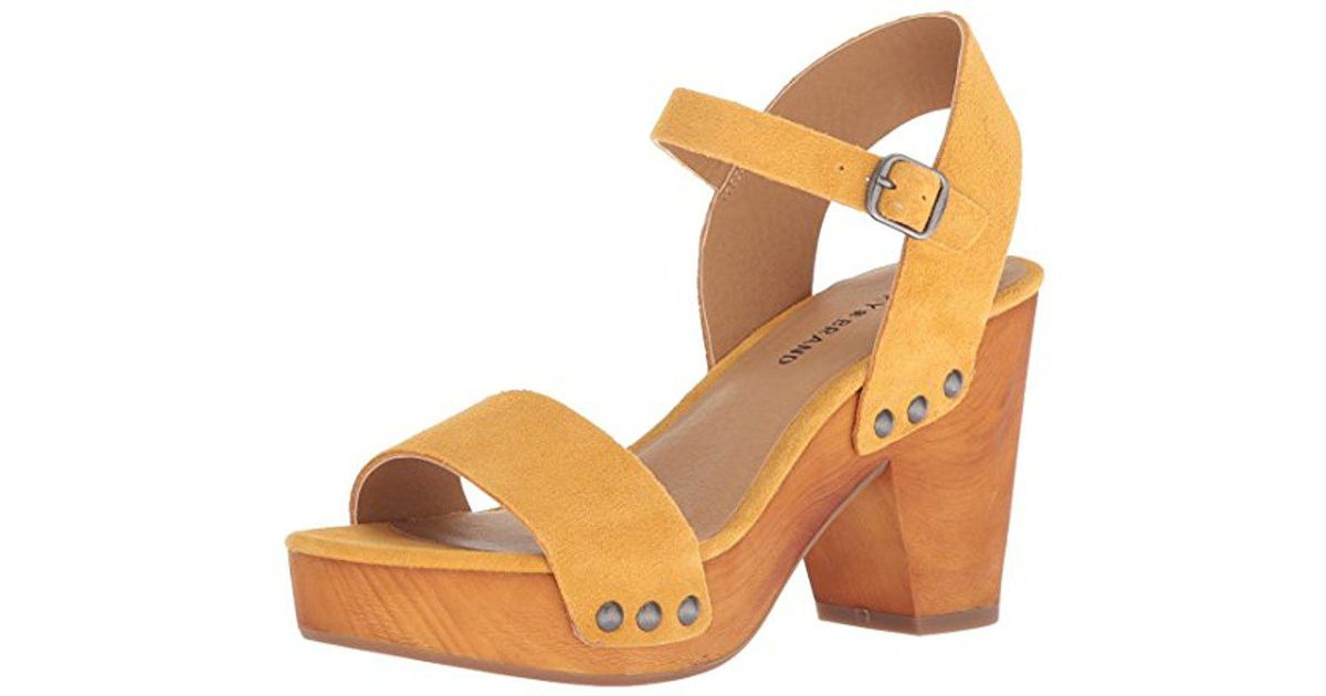 bb1ceb8a8a48 Lyst - Lucky Brand Trisa Heeled Sandal