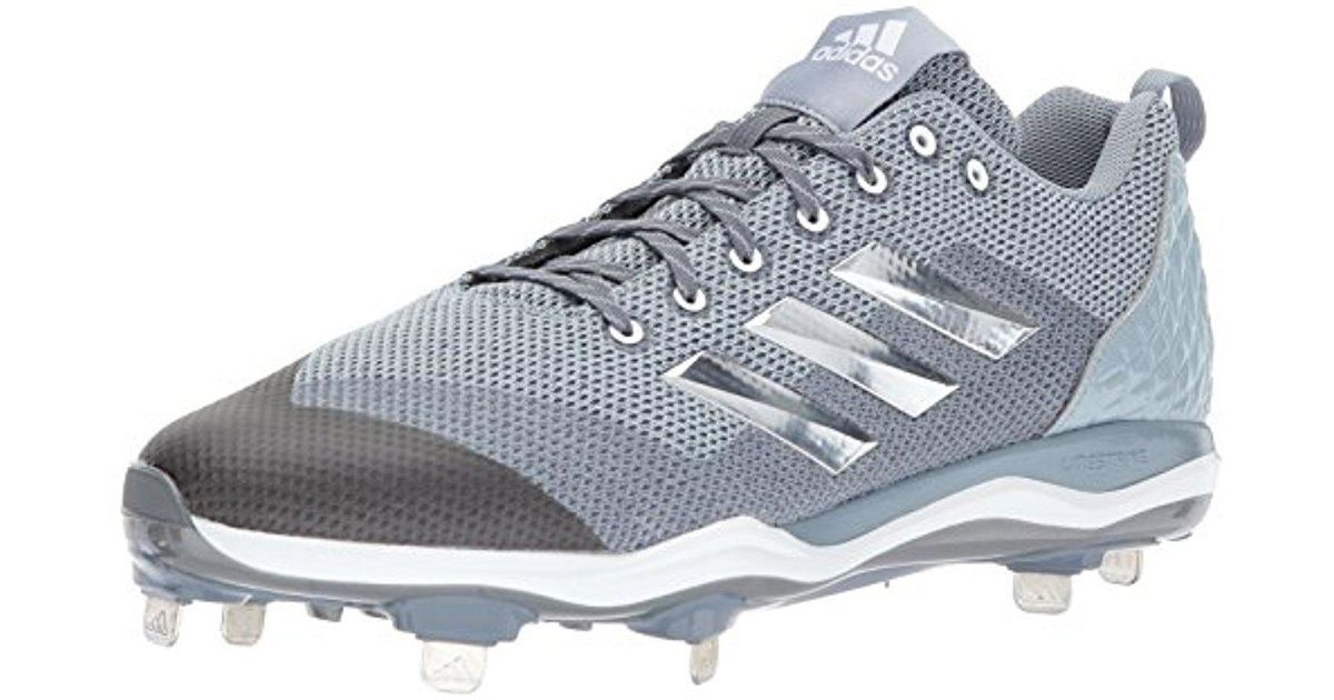 1fe8d138fbd adidas Poweralley 5 Baseball Cleat in Gray for Men - Lyst