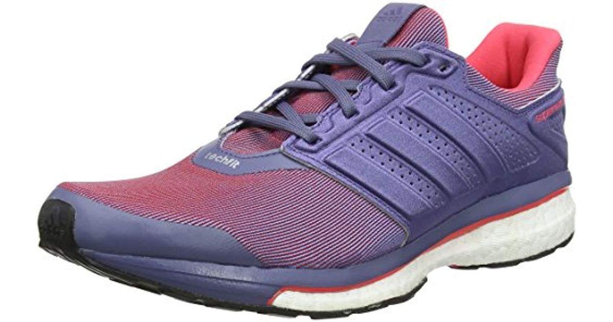 new product 39372 706d0 Lyst - Supernova Glide 8, Chaussures de Running Compétition Femme adidas en  coloris Violet