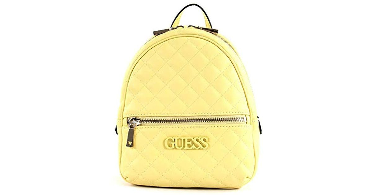5c32e94baa6 Guess Elliana Backpack Backpack in Yellow - Lyst