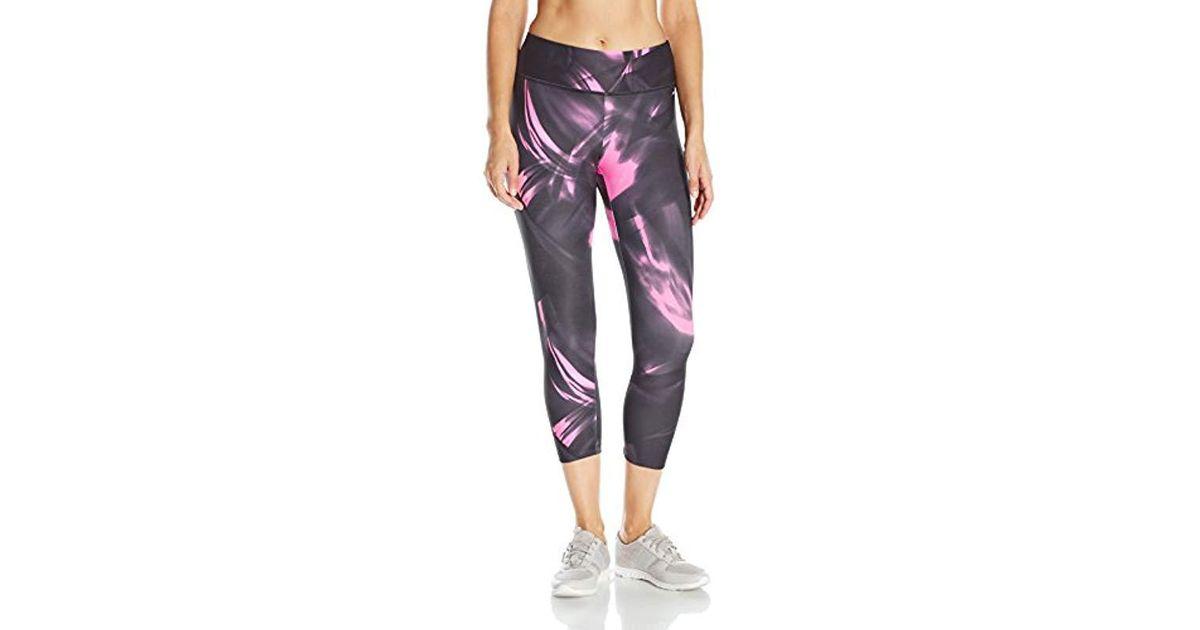 dcb2999c0ff7b Lyst - Jockey Vapor Print Capri Legging, Knockout Pink, Xl in Pink