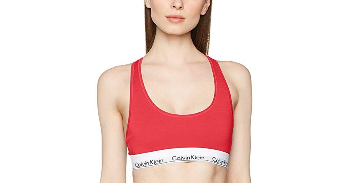 112109820c Calvin Klein Bralette Bustier in Pink - Lyst