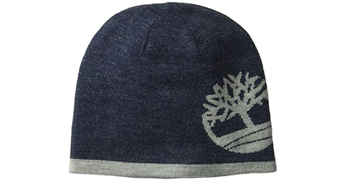 1617da2e2fa51 Timberland Reversible Knit In Tree Beanie in Blue for Men - Lyst