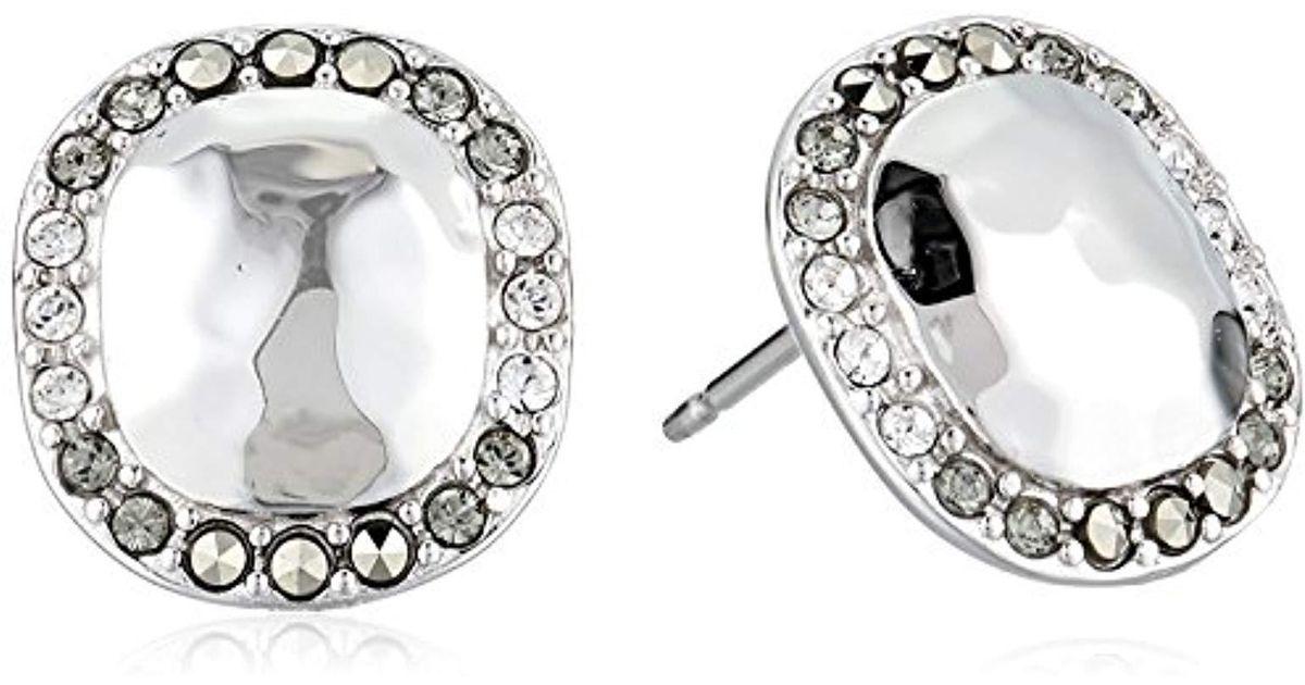 Lyst Judith Jack Sterling Silver With Swarovski Marcasite Stud Earrings In Metallic