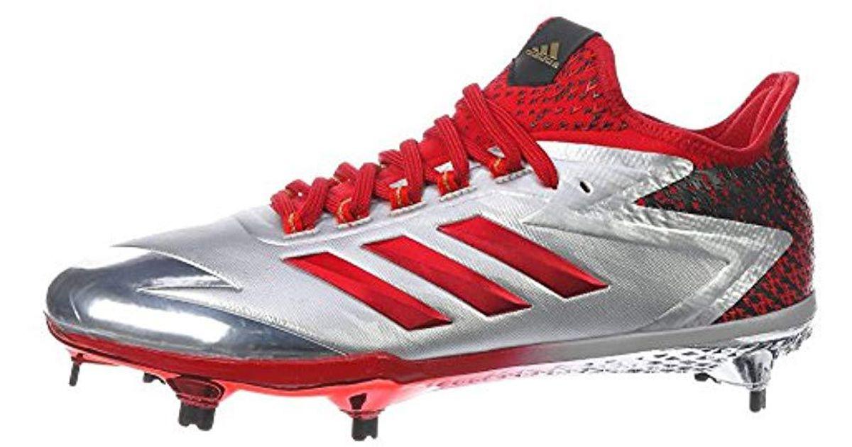 dc9cda7d9b66 Lyst - adidas Adizero Afterburner 4 Baseball Shoe in Red for Men
