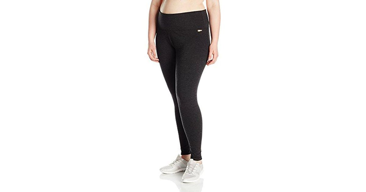 b09502e6e144e Calvin Klein - Black Performance Plus Size Control Waistband Legging - Lyst