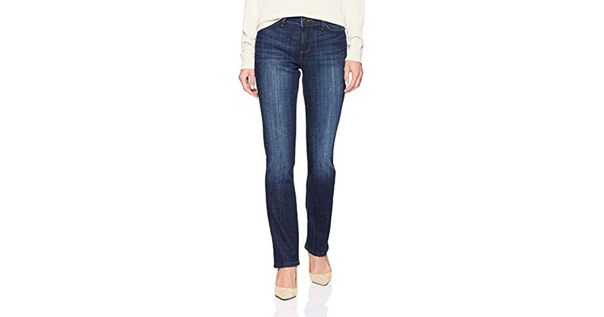 5569a1618b366 Lyst - Lee Jeans Secretly Shapes Regular Fit Straight Leg Jean in Blue