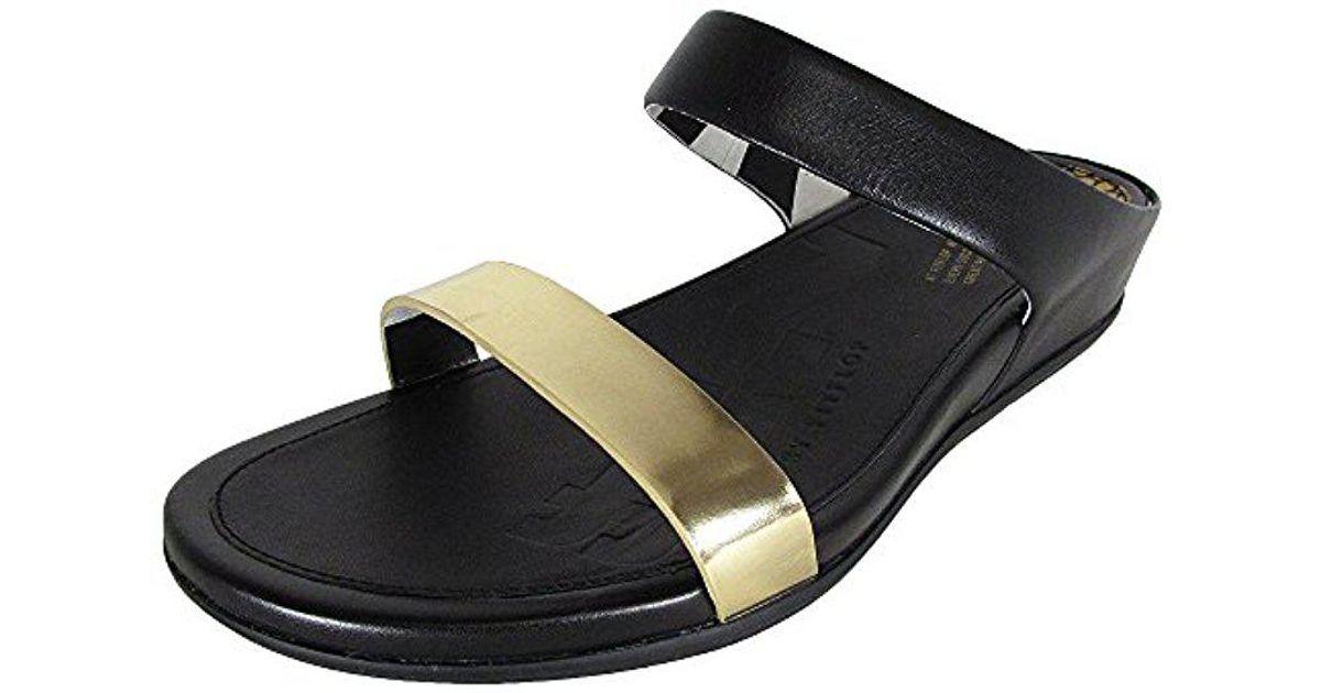 0eb26aaff Lyst - Fitflop Banda Opul Slide Dress Sandal in Metallic