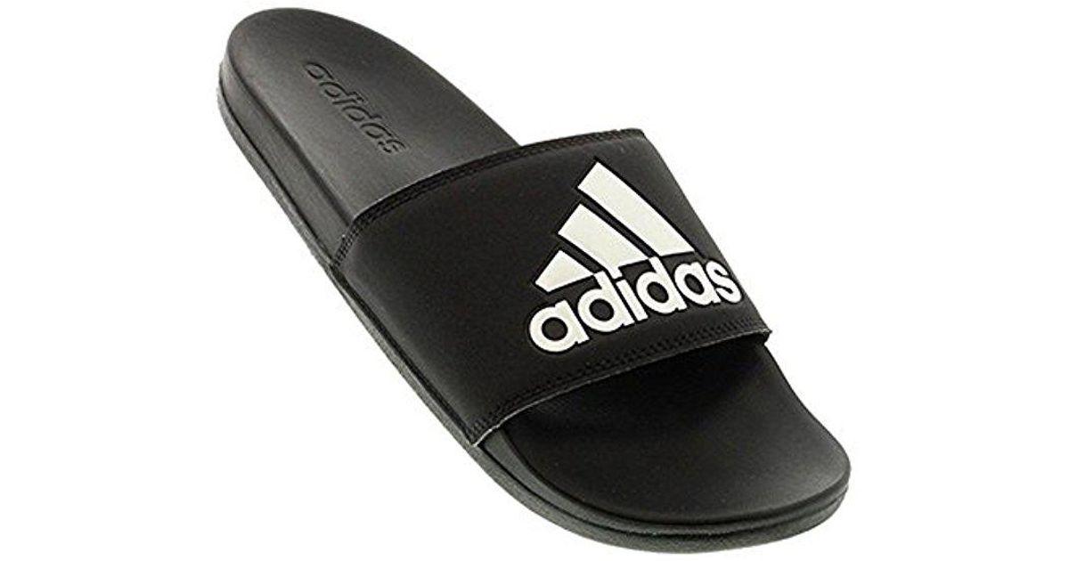 huge discount 4ed9c 72608 adidas Originals Adilette Comfort Slide Sandal in Black for Men - Lyst