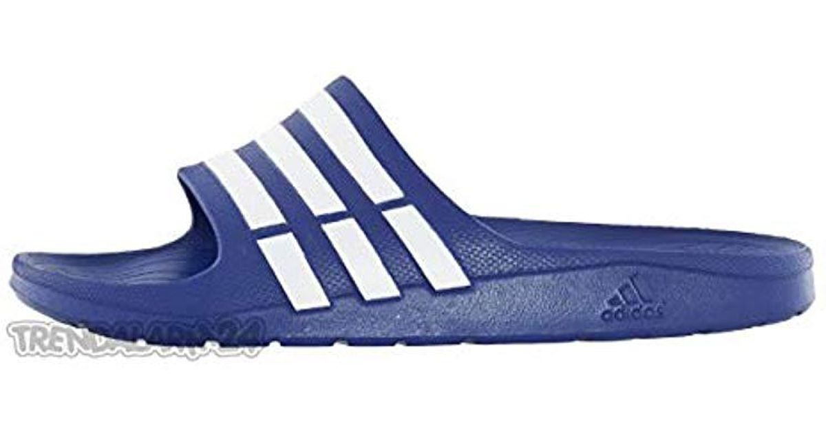 c7b563c9239 Adidas Unisex Adults  Duramo Slide Open Toe Sandals in Blue - Lyst
