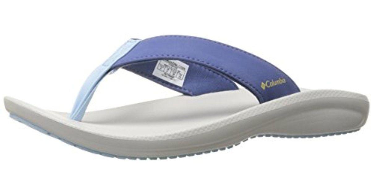 f587116935c6 Lyst - Columbia Barraca Flip Sandal in Blue - Save 21%