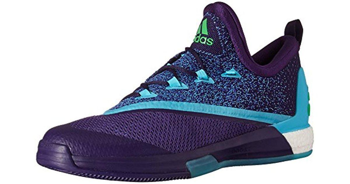 separation shoes c733b 1359e adidas Originals Adidas Crazylight Boost 2.5 Low Basketball Shoes, Dark  Purple blue shock Pink, 18 M Us in Blue for Men - Lyst