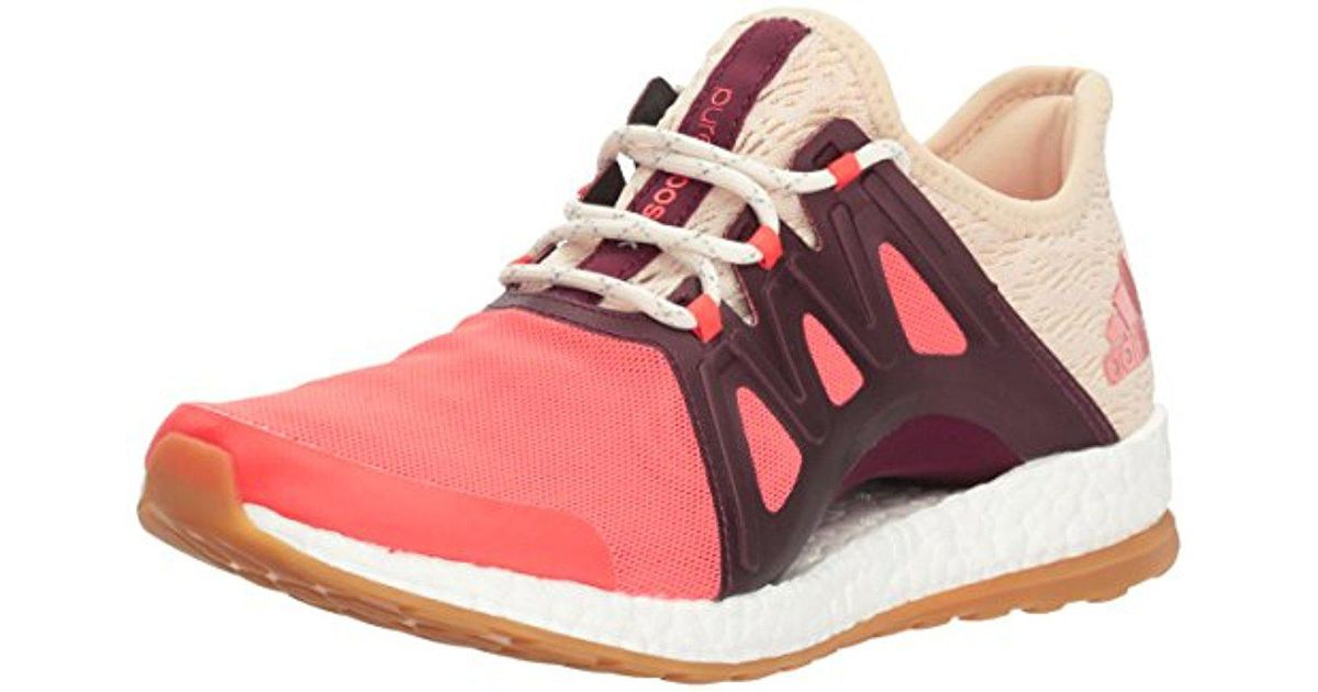 d8690ab08be Lyst - adidas Pureboost Xpose Clima Running Shoe in Pink