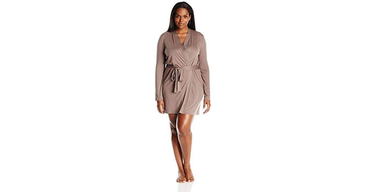 Lyst - Yummie Heather Thomson S Plus Size Pima Jersey Short Robe - Save 16% 233092a43