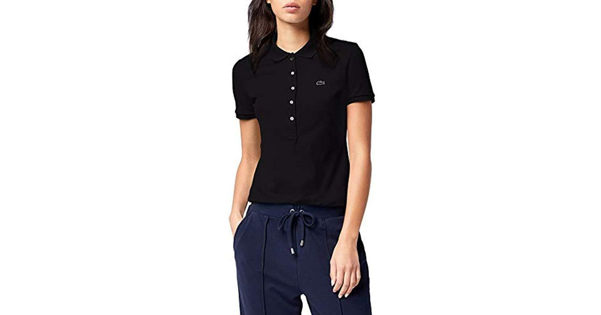 48504e8ee Lacoste Pf7845 Polo Shirt in Black - Lyst