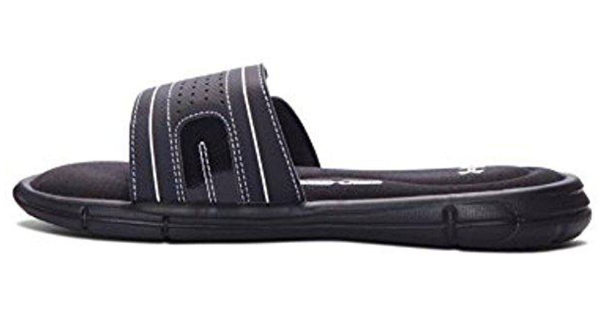 a3b51a35a03a Lyst - Under Armour Girls  Ignite Vii Slide Sandal in Black for Men
