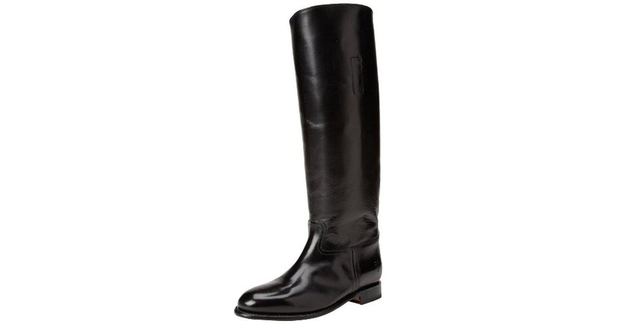 28559b94304 Lyst - Frye Abigail Riding Polished Boot in Black - Save 43%