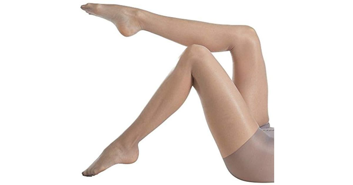 1073d2d1486 Lyst - Calvin Klein Shimmer Sheer Pantyhose With Control Top in Gray
