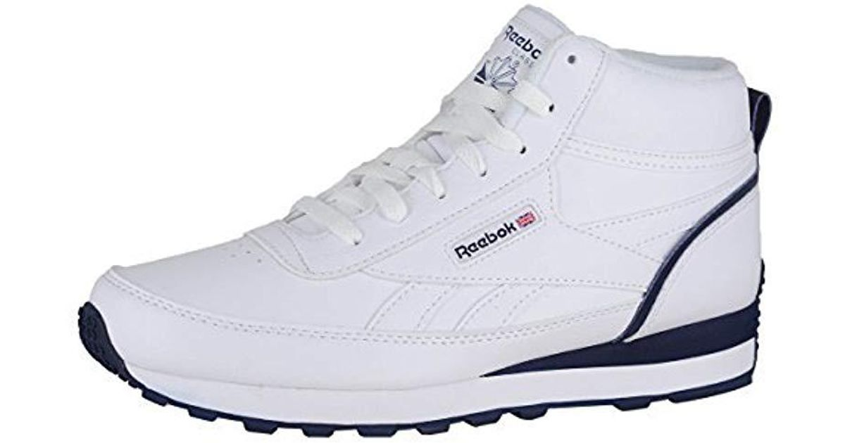 e1a6e461e06 Lyst - Reebok Classic Renaissance Mid Walking Shoe in White for Men