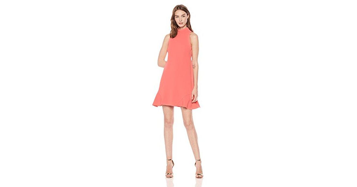 f5f16462 Vince Camuto Roll Neck Shift Dress in Pink - Lyst